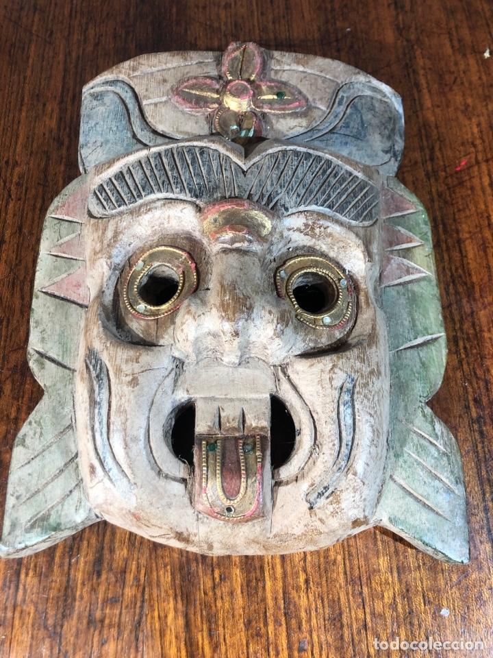 Arte: MASCARAS MADERAS PERSONAJES METICOS ASIA MALASIA - Foto 2 - 194687440