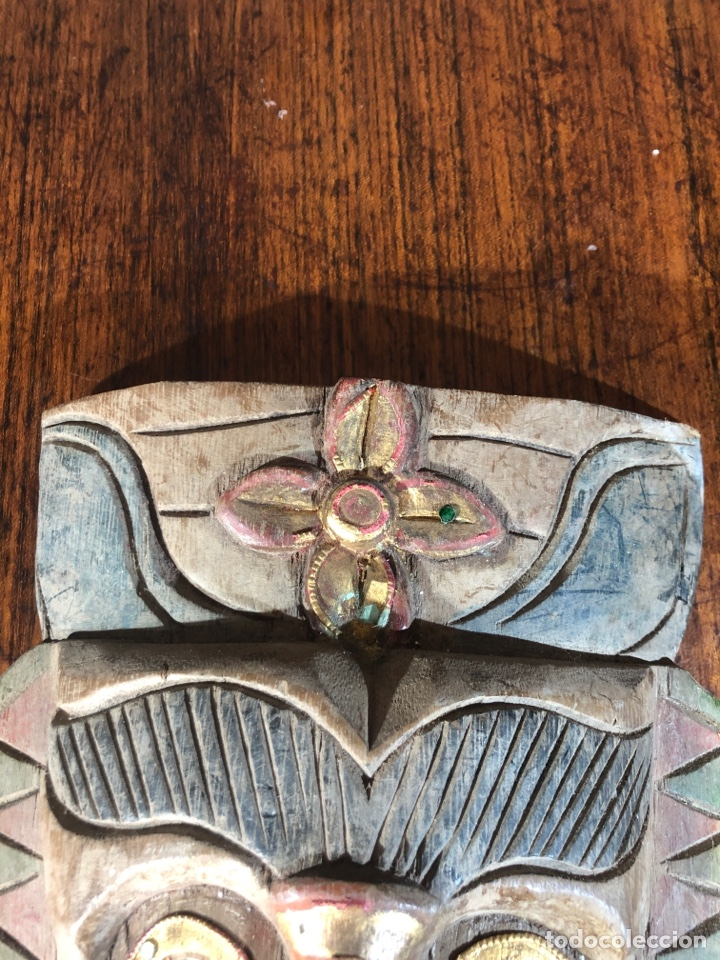 Arte: MASCARAS MADERAS PERSONAJES METICOS ASIA MALASIA - Foto 3 - 194687440
