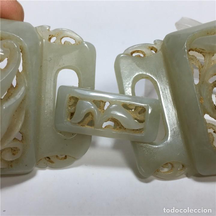 Arte: Hebilla de cinturón jade de la dinastía Qing - Foto 3 - 194699605