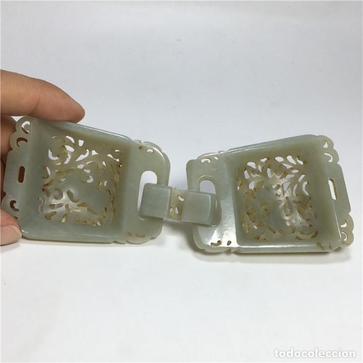 Arte: Hebilla de cinturón jade de la dinastía Qing - Foto 5 - 194699605