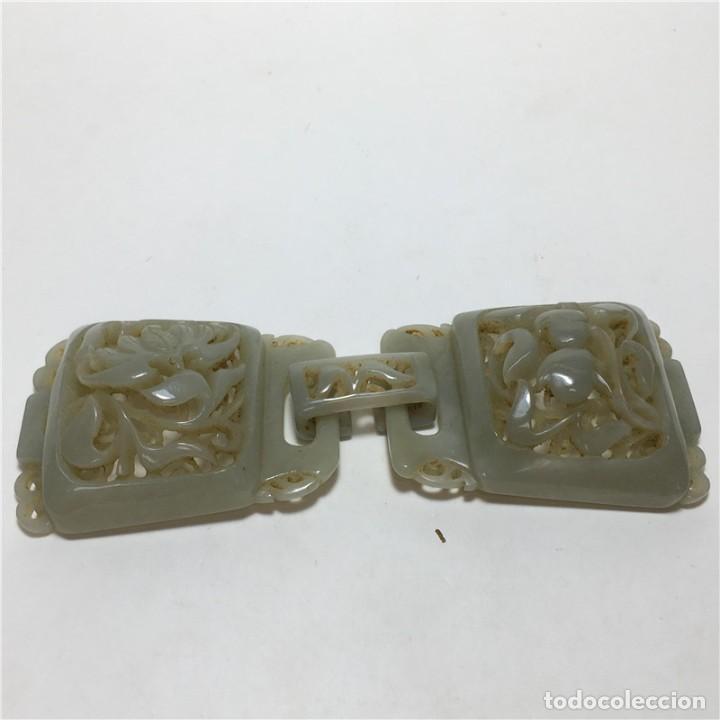 Arte: Hebilla de cinturón jade de la dinastía Qing - Foto 8 - 194699605