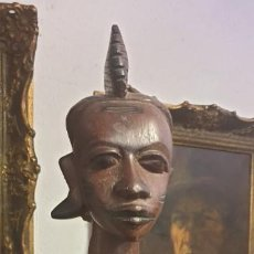 Arte: ARTE ETNICO FIGURA EN MADERA AFRICANA MUJER TRIBU. Lote 194754495