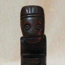 Arte: ESCULTURA AFRICANA TALLA MADERA ÉBANO TOTEM FIGURA TRIBAL FETICHE ARTESANÍA ÁFRICA. Lote 194935410