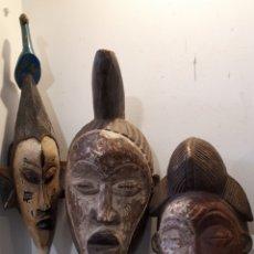 Arte: LOTE 3 MÁSCARAS AFRICANAS. Lote 195009758