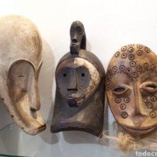 Arte: LOTE 3 MÁSCARAS AFRICANAS. Lote 195009807