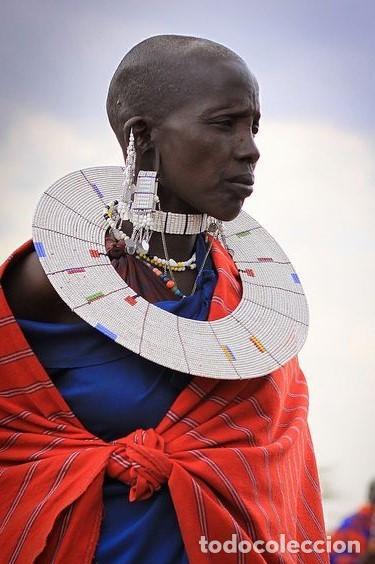 Arte: ESPECTACULAR COLLAR TORQUES DE LA TRIBU ETNIA MAASAI MASAI NECKCLACE, AFRICANO AFRICA, ANTIGUO S XX - Foto 2 - 195036852