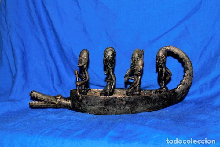 BARCA DOGON BRONCE AFRICANO (Arte - Étnico - África)