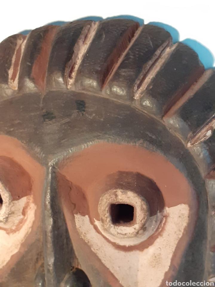 Arte: MÁSCARA TRIBAL - MADERA, DIENTES ANIMAL Y CÁÑAMO - TRIBU ÁFRICA - ETNOGRAFÍA - AÑOS 50 - Foto 5 - 195043776