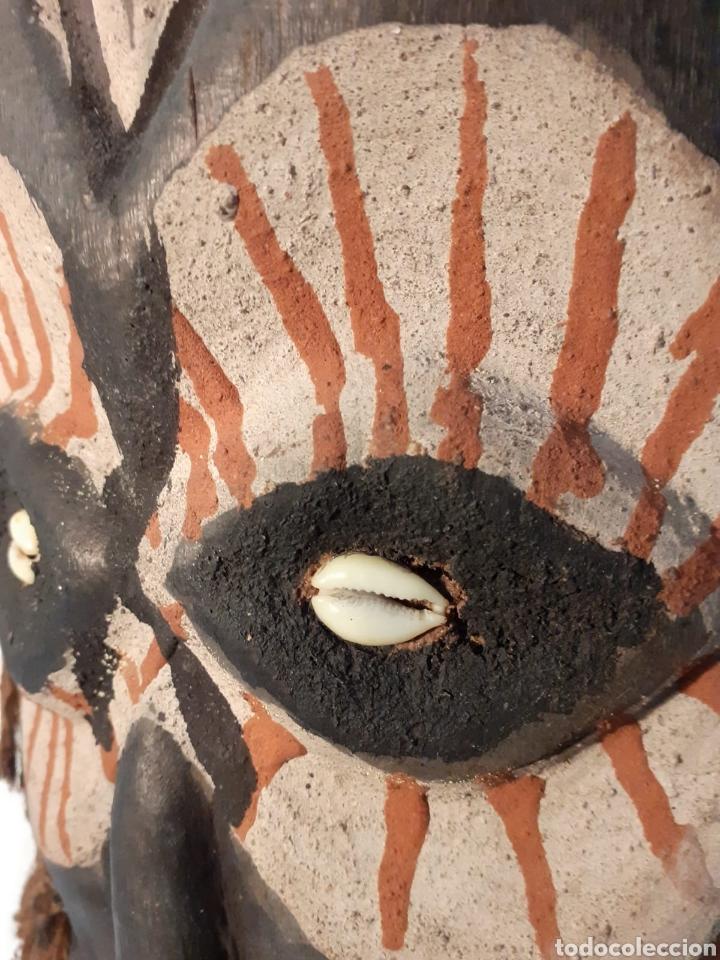 Arte: MÁSCARA TRIBAL - MADERA, DIENTES, CONCHAS Y CÁÑAMO - TRIBU ÁFRICA - ETNOGRAFÍA - AÑOS 50 - Foto 8 - 195044122
