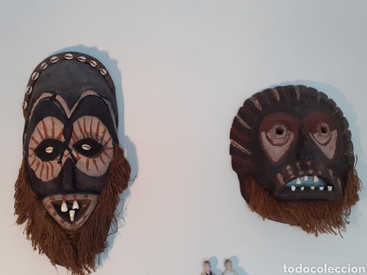 Arte: MÁSCARA TRIBAL - MADERA, DIENTES, CONCHAS Y CÁÑAMO - TRIBU ÁFRICA - ETNOGRAFÍA - AÑOS 50 - Foto 16 - 195044122