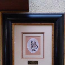 Arte: LOTE DOS LAMINAS DE MARFIL PINTADAS Y ENMARCADAS. Lote 195119640
