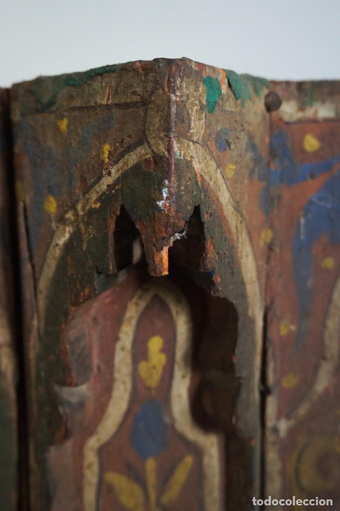Arte: Pieza antigua madera marquetería. Marruecos - Foto 3 - 195272690