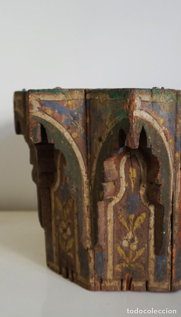 Arte: Pieza antigua madera marquetería. Marruecos - Foto 4 - 195272690