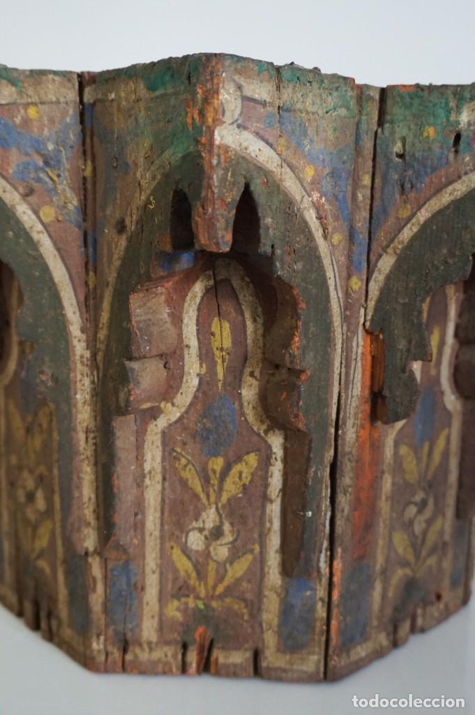 Arte: Pieza antigua madera marquetería. Marruecos - Foto 5 - 195272690