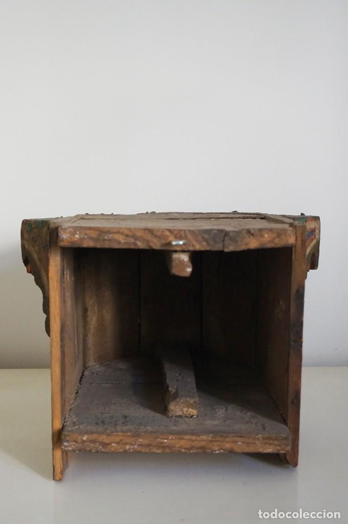 Arte: Pieza antigua madera marquetería. Marruecos - Foto 6 - 195272690