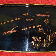 Arte: BANDEJA EN LACA CHINA. CON FIRMA DE AUTOR. CHINA. SIGLO XIX-XX. Lote 195304682