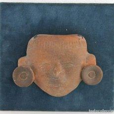 Arte: MÁSCARA PRECOLOMBINA EN TERRACOTA. MÉXICO. POSIBLEMENTE PRINCIPIOS DEL SIGLO XX. Lote 195416648