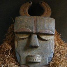 Arte: ANTIGUA MÁSCARA EKET, NIGERIA. Lote 195444565