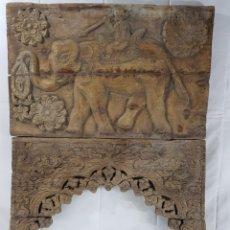 Arte: TAYA EN MADERA ESCUELA INDIA S. 18. Lote 195548175