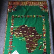 Arte: MAPA DE AFRICA EN TELA PARA PARED, DE CENTROAFRICA. Lote 195554057
