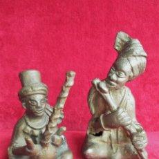 Arte: FIGURAS DE BRONCE AFRICANAS, DE MUSICOS - HECHAS ARTESANALMENTE. Lote 195705383
