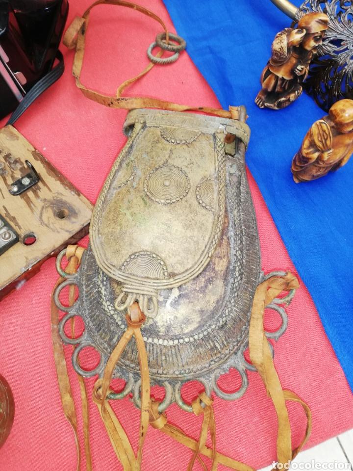 Arte: Arte étnico.... Continente ceremonial de bronce.... - Foto 5 - 196285571