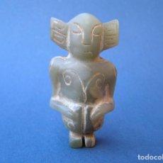 Arte: CHAMÁN. TALLA EN NEFRITA VERDE. 5,5 CM.. Lote 197175776
