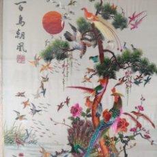 Arte: PRECIOSO CUADRO SEDA CHINA ESCENA BORDADA.. Lote 197524018