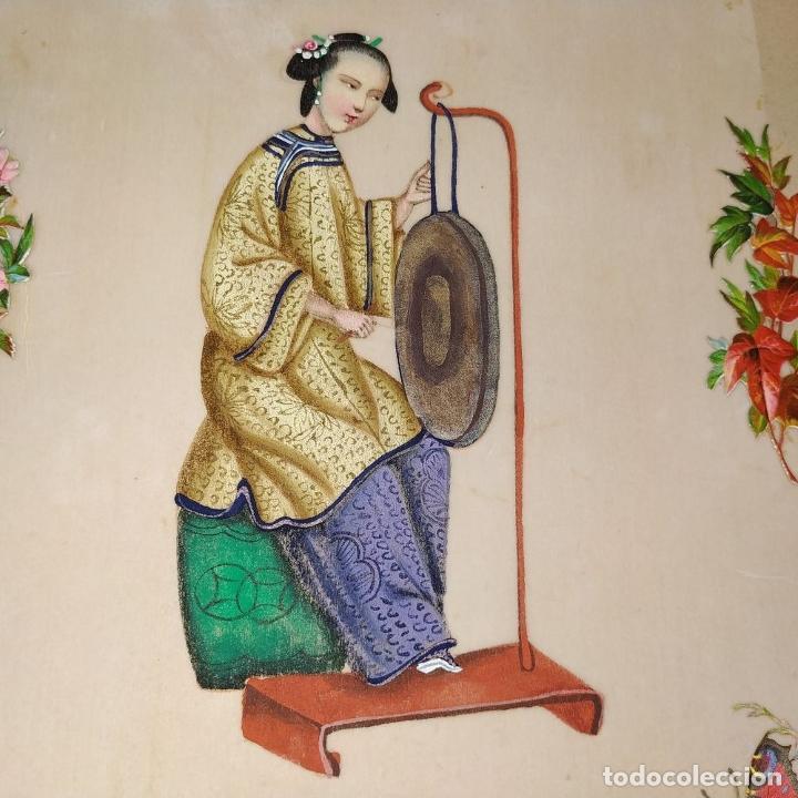 Arte: DAMA IMPERIAL. PINTURA CHINA SOBRE PAPEL ARROZ. APLICACIÓN DE TROQUELADOS. CHINA.XIX - Foto 6 - 244485025