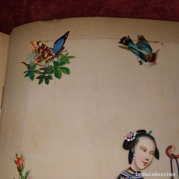 Arte: DAMA IMPERIAL. PINTURA CHINA SOBRE PAPEL ARROZ. APLICACIÓN DE TROQUELADOS. CHINA.XIX - Foto 11 - 244485025