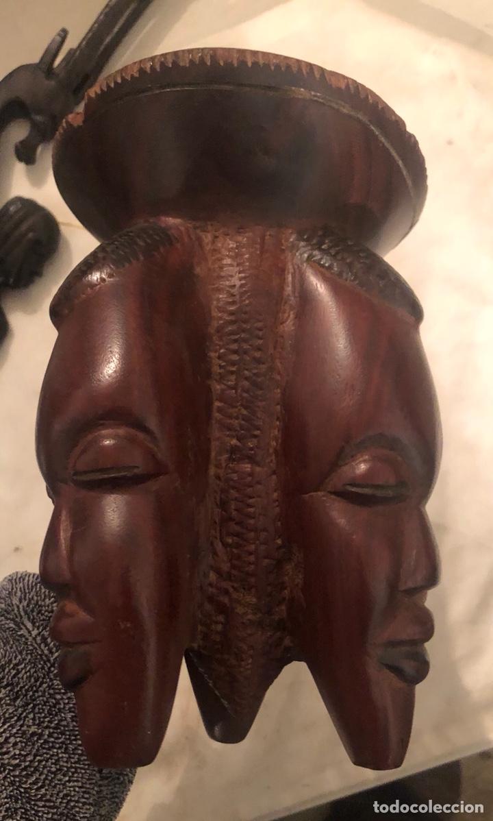 Arte: Lote de tres figuras de madera africanas - Foto 2 - 199164100