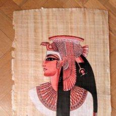 Arte: PAPIRO CON DIBUJO DIOSA ISIS, EGIPTO.. Lote 199512578