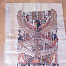 Arte: PAPIRO CON DIBUJO DE ISIS ALADA.. Lote 199513390