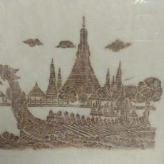 Arte: CUADROS THAILANDESES PINTADOS A MANO SOBRE SEDA. Lote 199724428