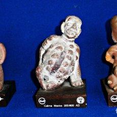 Arte: 3 RÉPLICAS EN TERRACOTA ARTE PRECOLOMBINO-OBSEQUIO LABORATORIOS FUNK. Lote 199874741