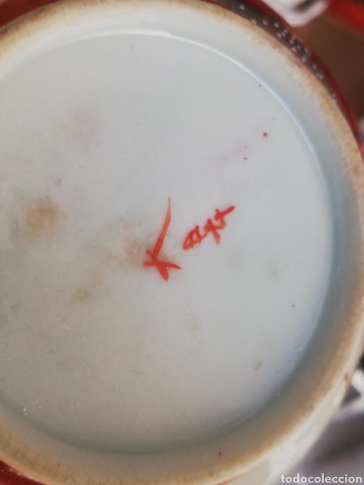 Arte: Caja azucarera antigua en porcelana oriental China o Japones con sello - Foto 3 - 200172707