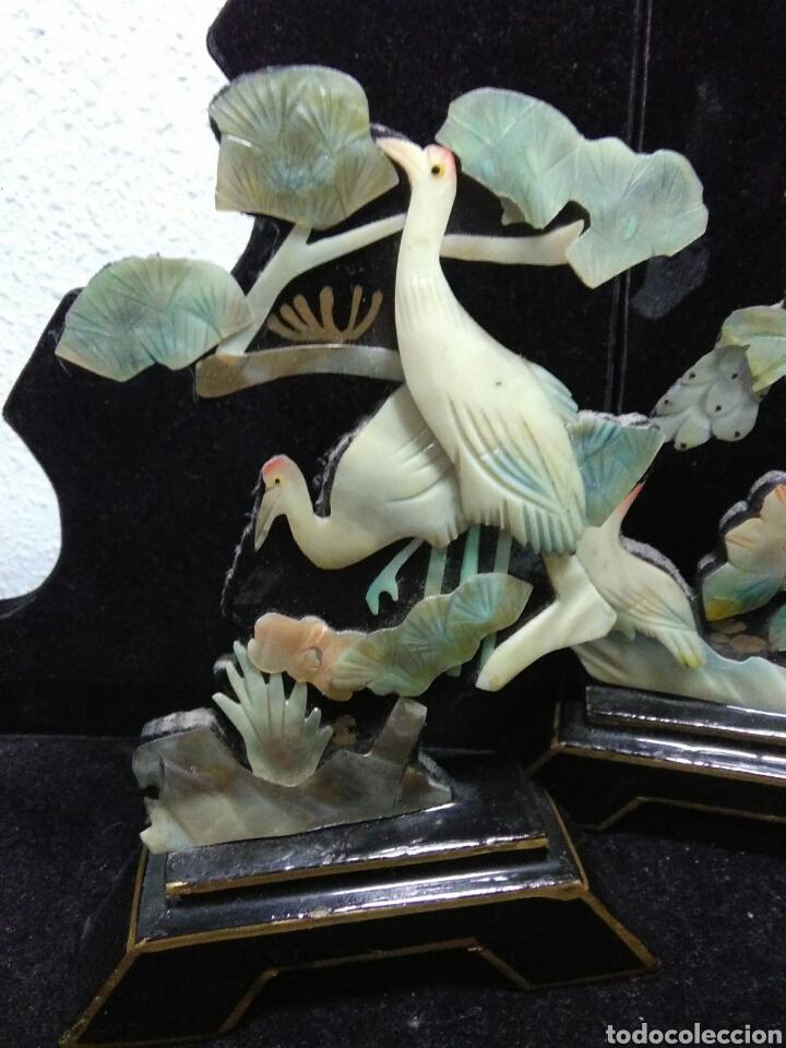 Arte: Antiguedades asiaticas (china )pareja de paisajes en nacar - Foto 3 - 200522631
