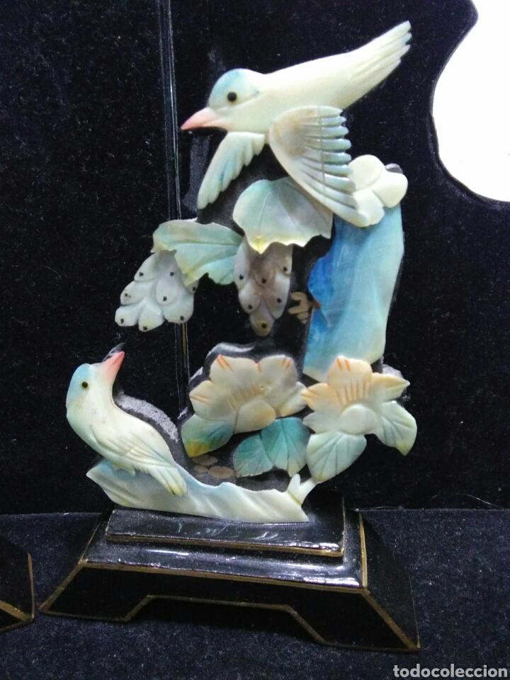 Arte: Antiguedades asiaticas (china )pareja de paisajes en nacar - Foto 5 - 200522631