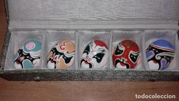 Arte: Mascaras Japonesas Kabuki. MIniaturas. 4,5 x 3,5 cm - Foto 3 - 200536550