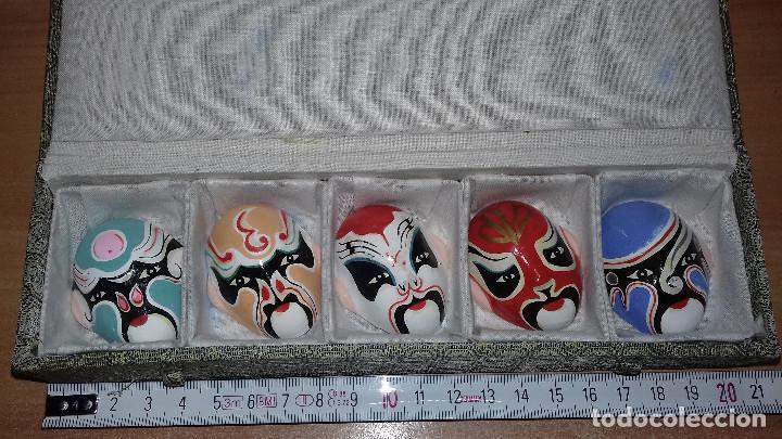 Arte: Mascaras Japonesas Kabuki. MIniaturas. 4,5 x 3,5 cm - Foto 11 - 200536550