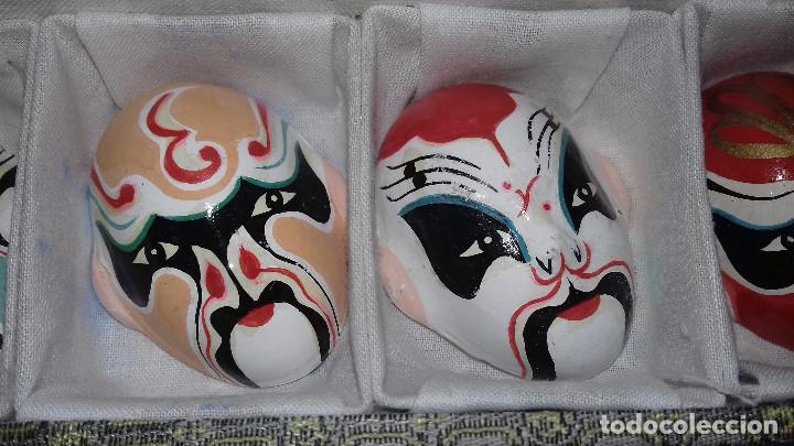 Arte: Mascaras Japonesas Kabuki. MIniaturas. 4,5 x 3,5 cm - Foto 13 - 200536550