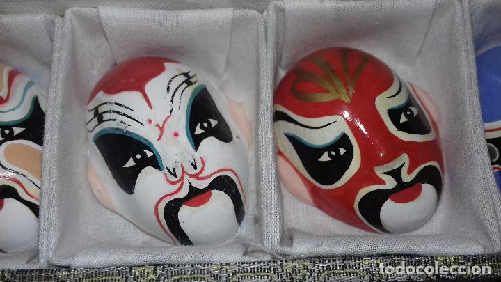Arte: Mascaras Japonesas Kabuki. MIniaturas. 4,5 x 3,5 cm - Foto 14 - 200536550