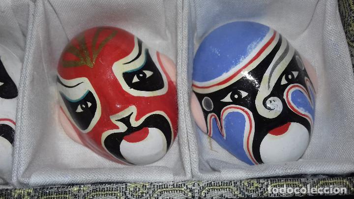Arte: Mascaras Japonesas Kabuki. MIniaturas. 4,5 x 3,5 cm - Foto 15 - 200536550