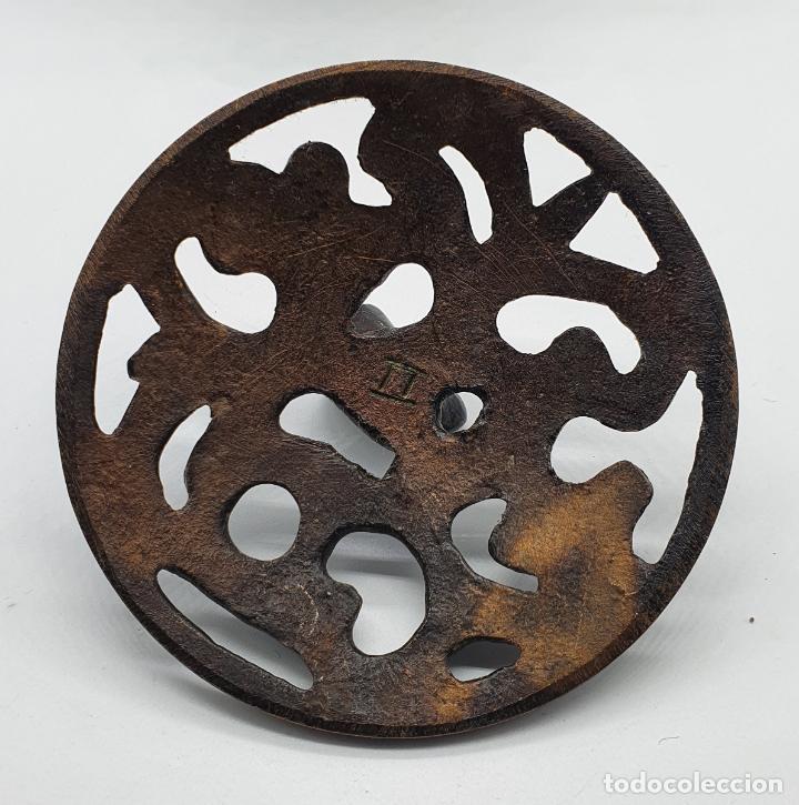 Arte: Incensario antiguo Japones en bronce macizo, hecho en Japón, periodo Meiji (1868 -1912), sellado . - Foto 7 - 200822248