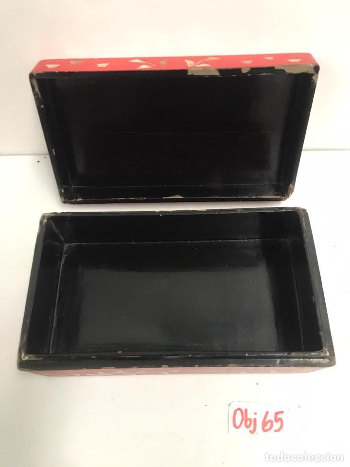 Arte: Caja joyero asiática madera y nácar - Foto 3 - 201309872