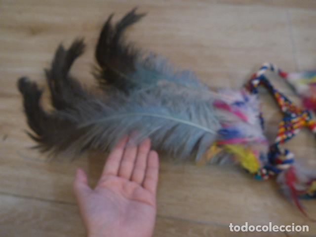 Arte: Antiguo gran plumaje o plumas de indio del amazonas, original. arte etnico. - Foto 2 - 201962045