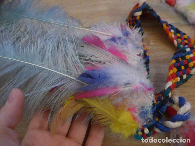 Arte: Antiguo gran plumaje o plumas de indio del amazonas, original. arte etnico. - Foto 4 - 201962045