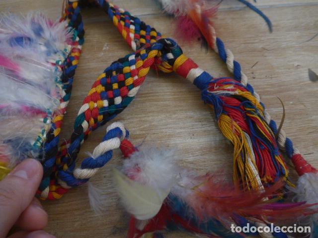 Arte: Antiguo gran plumaje o plumas de indio del amazonas, original. arte etnico. - Foto 5 - 201962045