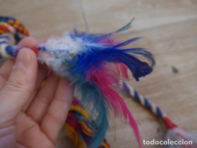 Arte: Antiguo gran plumaje o plumas de indio del amazonas, original. arte etnico. - Foto 6 - 201962045