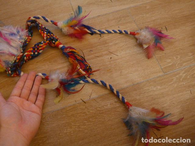 Arte: Antiguo gran plumaje o plumas de indio del amazonas, original. arte etnico. - Foto 8 - 201962045